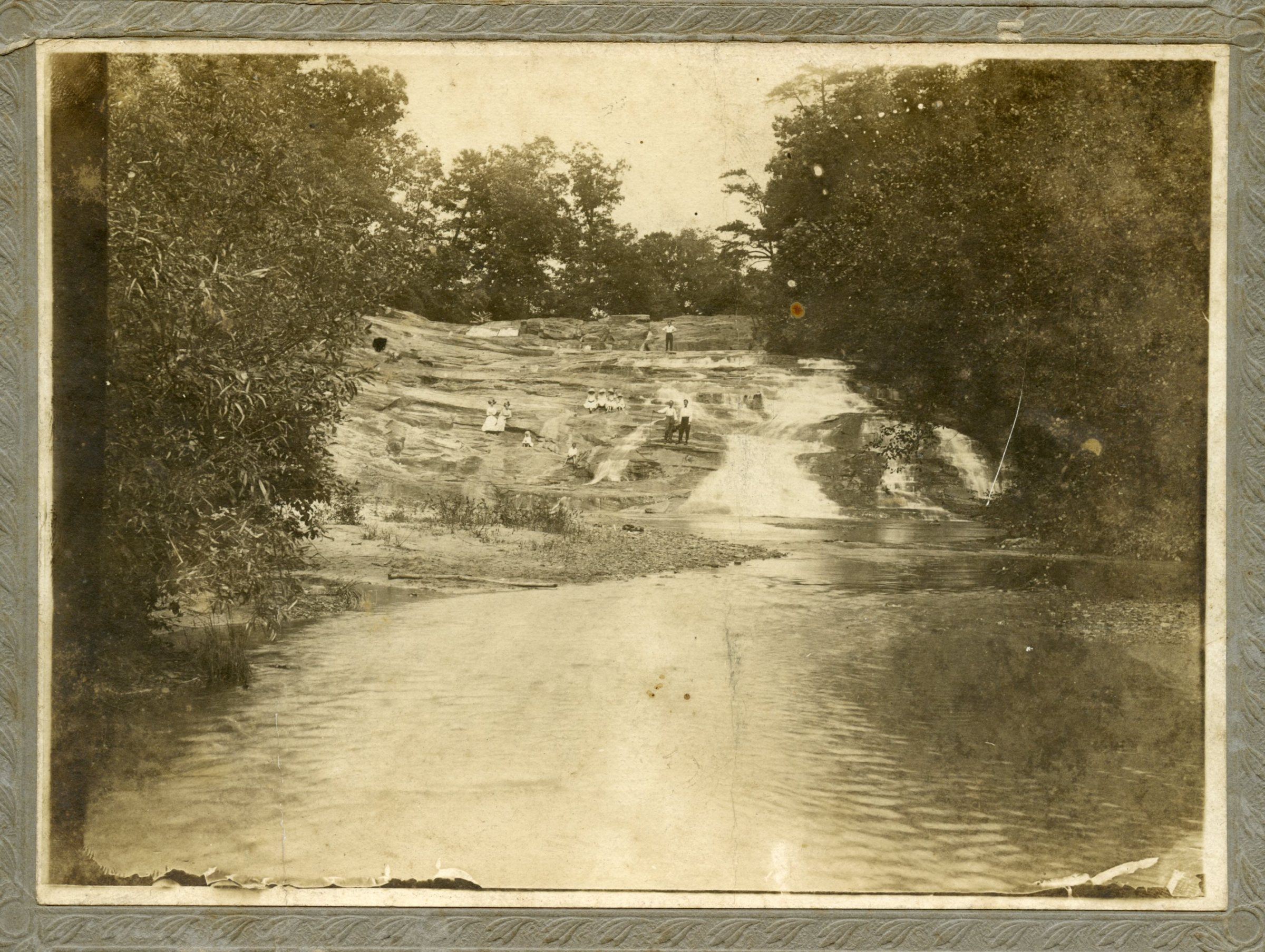 Early hikers at the Carter Falls, abt. 1910